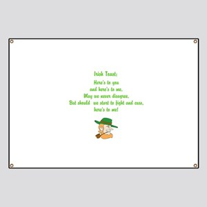 Heres to you and me Irish toast Banner
