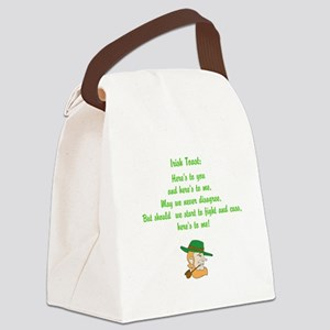 Heres to you and me Irish toast Canvas Lunch Bag