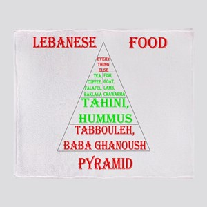 Lebanese Food Pyramid Throw Blanket