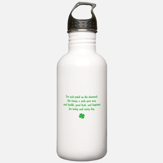 Shamrock wishes Water Bottle