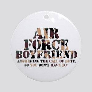 Air Force BF Answering Ornament (Round)