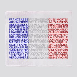 French Cities Flag Throw Blanket