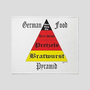 German Food Pyramid Throw Blanket