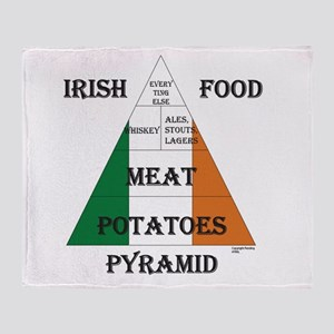 Irish Food Pyramid Throw Blanket