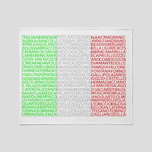 Italian Cities Flag Throw Blanket