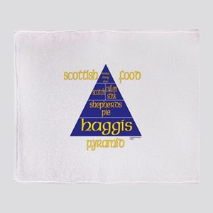 Scottish Food Pyramid Throw Blanket