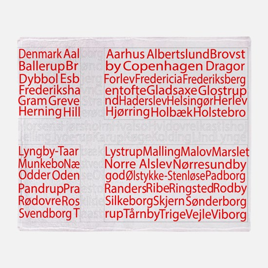 Danish Cities Flag Throw Blanket