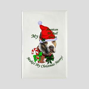 Pit Bull Christmas Rectangle Magnet (10 pack)