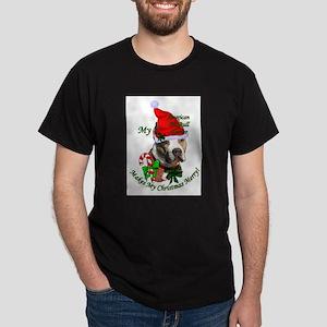 Pit Bull Christmas Dark T-Shirt