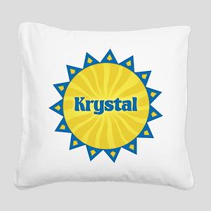 Krystal Sunburst Square Canvas Pillow