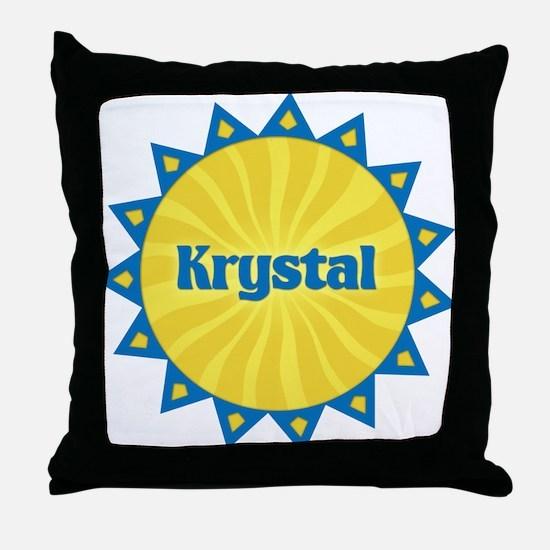 Krystal Sunburst Throw Pillow