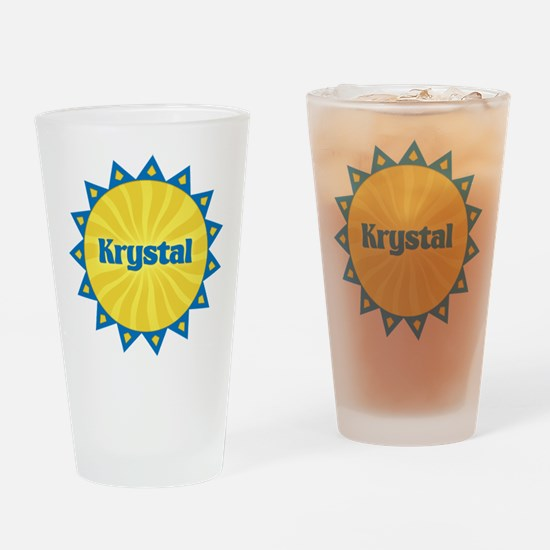 Krystal Sunburst Drinking Glass
