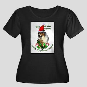 Australi Women's Plus Size Scoop Neck Dark T-Shirt