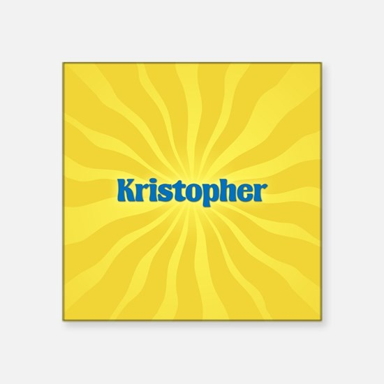 "Kristopher Sunburst Square Sticker 3"" x 3"""