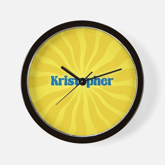 Kristopher Sunburst Wall Clock