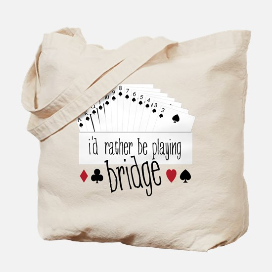 Playing Bridge Tote Bag