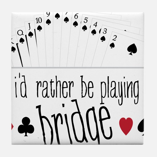 Playing Bridge Tile Coaster