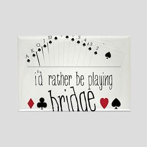 Playing Bridge Rectangle Magnet