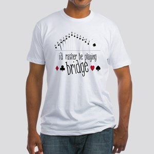 Playing Bridge Fitted T-Shirt