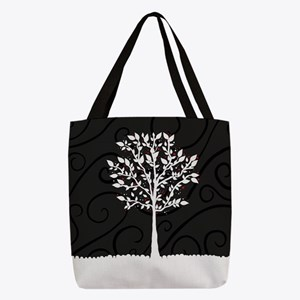 Love Tree Polyester Tote Bag