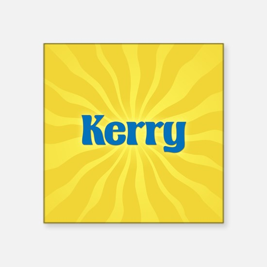 "Kerry Sunburst Square Sticker 3"" x 3"""