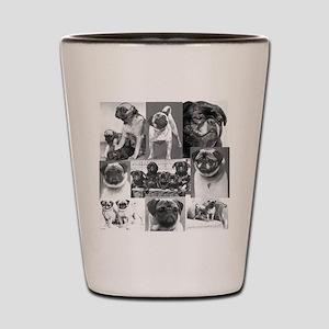 Vintage Pugs Shot Glass