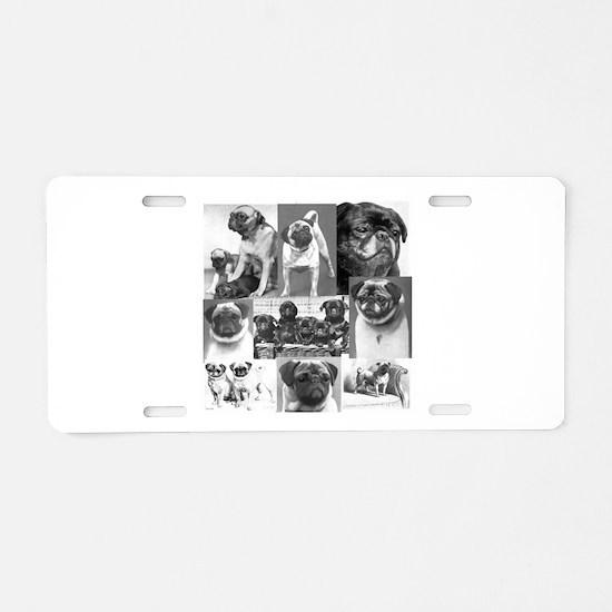 Vintage Pugs Aluminum License Plate