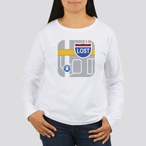 Maps Fail: Lost Women's Long Sleeve T-Shirt