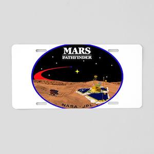 Mars Pathfinder Aluminum License Plate