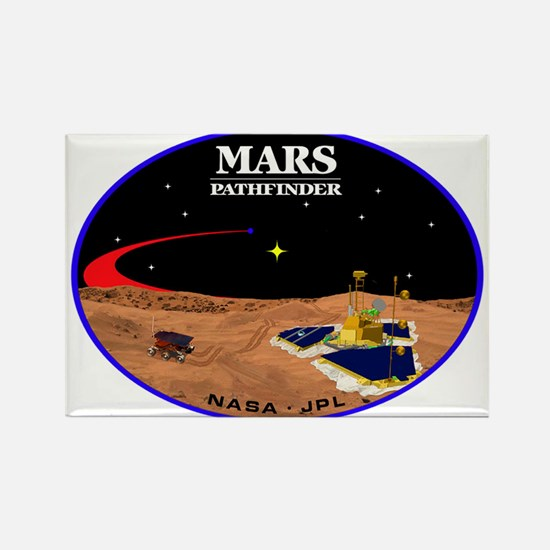 Mars Pathfinder Rectangle Magnet
