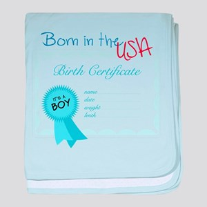 Born In The USA baby blanket