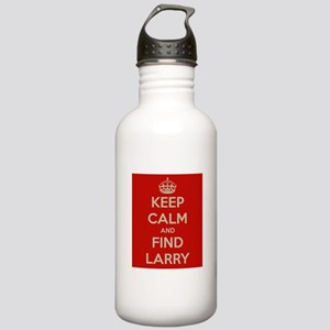 Keep Calm and Find Larry Stainless Water Bottle 1.