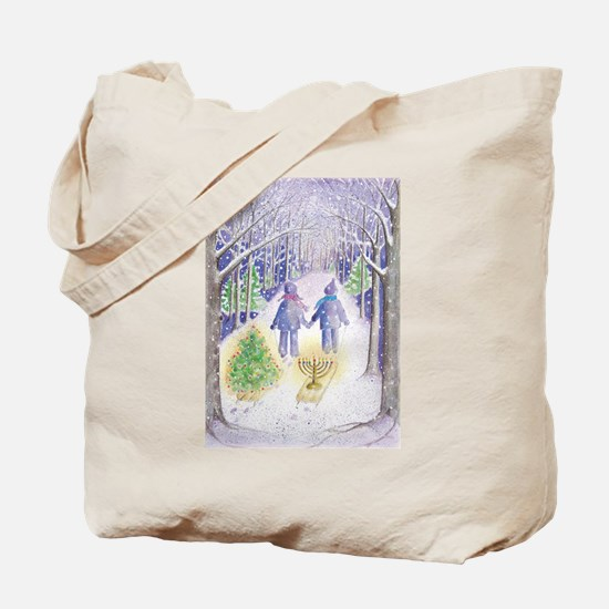 Chrismukkah Holiday Sleds Tote Bag