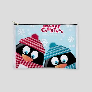 Christmas Penguins Makeup Pouch