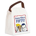 50th Birthday Canvas Lunch Bag