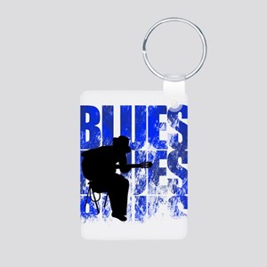 blues guitar Aluminum Photo Keychain