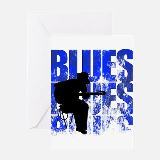 blues guitar Greeting Card