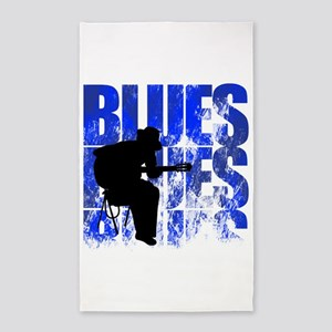 blues guitar 3'x5' Area Rug