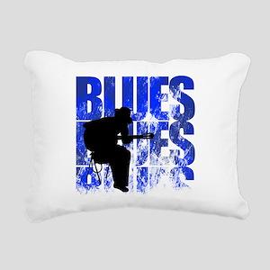 blues guitar Rectangular Canvas Pillow