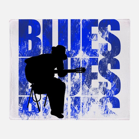 blues guitar Throw Blanket