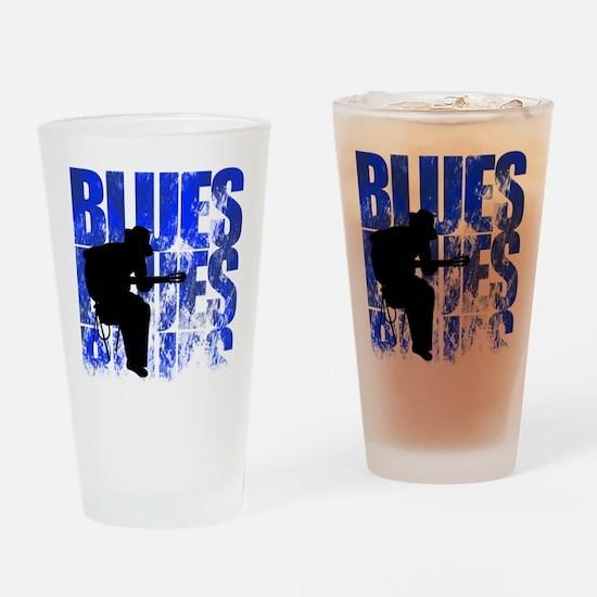 blues guitar Drinking Glass
