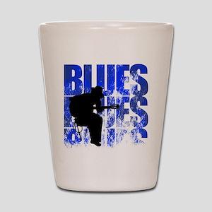 blues guitar Shot Glass