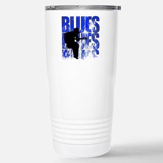 blues guitar Stainless Steel Travel Mug