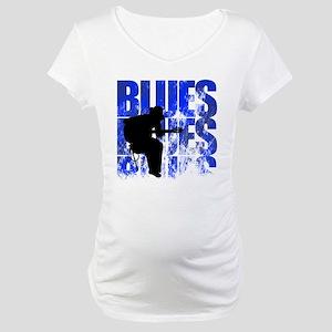 blues guitar Maternity T-Shirt