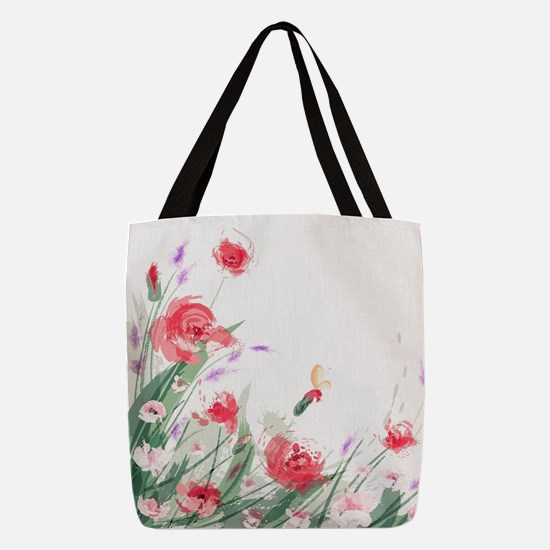 Flowers Painting Polyester Tote Bag