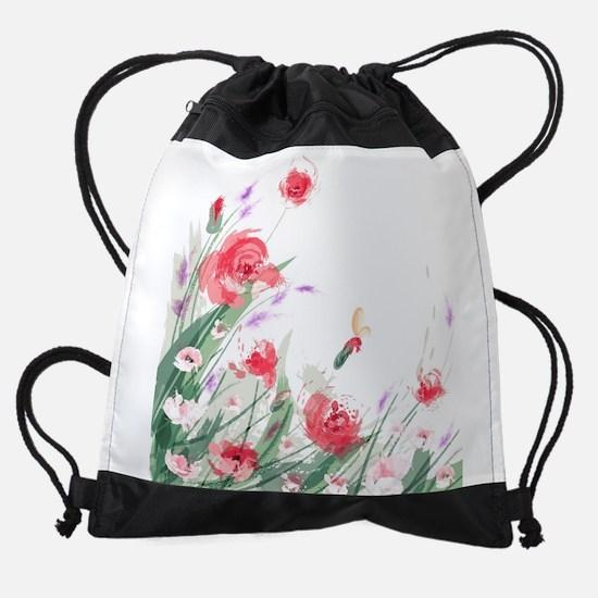 Flowers Painting Drawstring Bag