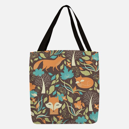 Woodland Fox Polyester Tote Bag