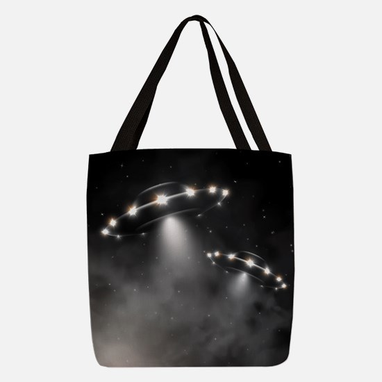 UFO Polyester Tote Bag