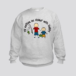 Rather Be Fishing Kids Sweatshirt