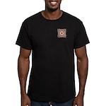 Vidalia Rose Monogram Men's Fitted T-Shirt (dark)